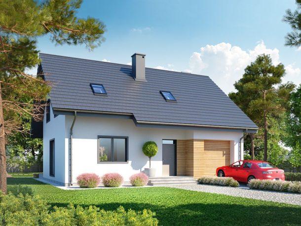 Projekt domu Eco 02 WOZ1001
