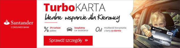 Santander TurboKARTA idealna dla kierowców