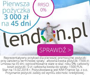 Pożyczka gotówkowa w Lendon.pl